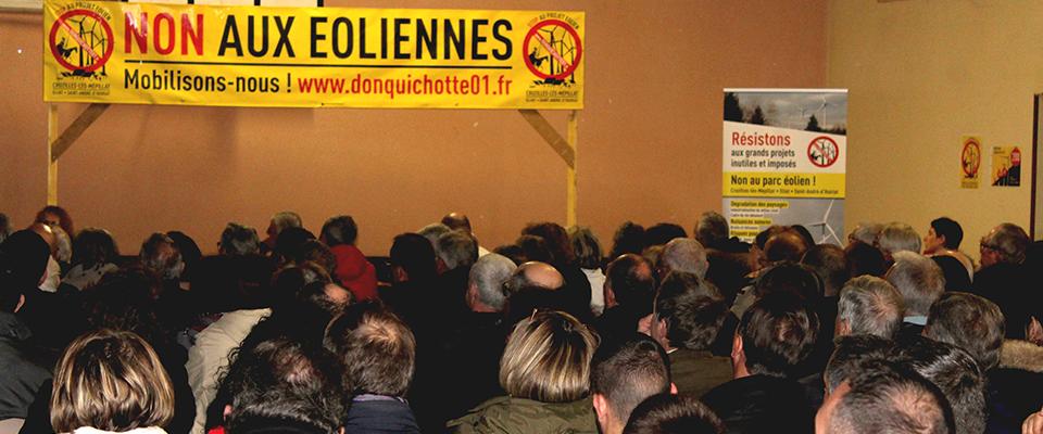 Grande affluence à la réunion d'informations des «Don Quichotte 01»