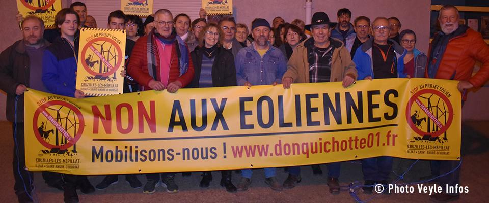 Veyle Infos – Projet de parc éolien : La contestation s'organise (30/12/19)